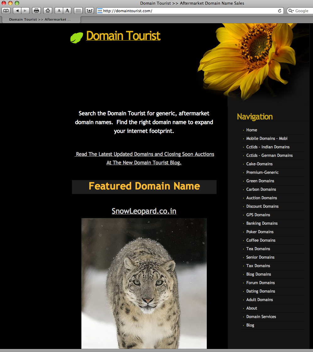 Domain tourist design